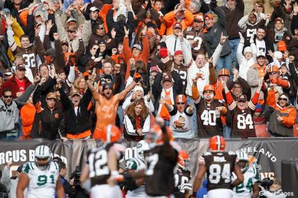 The Browns fan in their natural habitat.