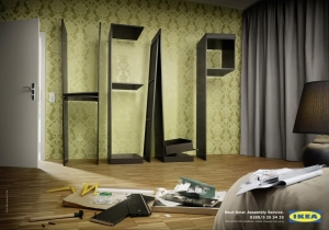 I think it's kind of funny that Ikea mocks you by making ads like this.