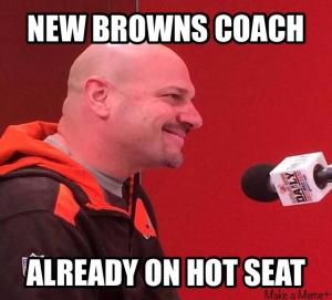 "Mike Pettine's ""Fire Watch"" started 15 minutes before his hire was complete."