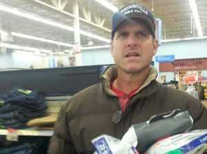 Jim Harbaugh WalMart